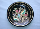 Painted Art Nouveau Floral Bouquet Wood Dish
