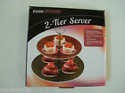 2-tier server for appetizers or treats,need to be assembled plate size 8
