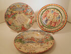 222 FIFTH STONEWARE TWELVE DAYS OF CHRISTMAS PLATES -TENTH,ELEVENTH,TWELFTH DAYS