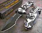 TAC-FORCE Speedster Assisted Opening Rescue SNOW CAMO Glass Breaker Knife NEW!!