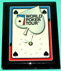 WORLD POKER TOUR-----VINTAGE WALL CLOCK-----VERY COOL!!!