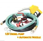 NEW 12v Diesel Fuel Transfer Pump 11 GMP W Automatic Nozzle +12 Hose