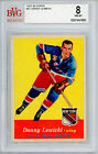 1957 58 Topps #61 Danny Lewicki BVG 8 NM-MT New York Rangers