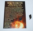 Sikhote Alin Russian Genuine Meteorite 2 to 3 grams size w Color Label 738