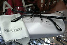 NINA RICCI RIMLESS FRAMES EYEGLASS FRAMES NR2260F MADE IN FRANCE