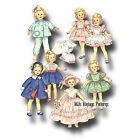 Vtg 1950s Doll Clothes Pattern 12