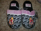 NWT Girls HANNAH MONTANA Fuzzy Slip on Slippers Size L 13 1