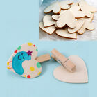 20 Unfinished Wooden Wood Heart Shape Pieces 11x098 FASHION