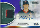 2011 Bowman Sterling MARK APPEL USA Auto Relic Patch PURPLE Refractor #02 10