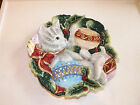 Fitz and Floyd Essentials Kristmas Kitty Decorative Plate