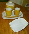 6 Pc LOT Franciscan Topaz Discovery Pattern Porcelain Dinnerware MINT NICE