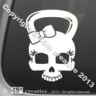 Girls Skull Kettlebell Crossfit Decal cross fit equipment exercise sticker