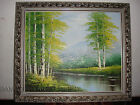 Impressionism Autumn Fall Landscape PAINTING River Forest Mountain Ready to Hang