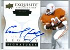 EARL CAMPBELL 2012 UD EXQUISITE LEGACY AUTO CARD #20 60! JERSEY NUMBER 20!
