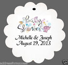 24 Personalized Baby Shower Favor Scalloped Tags Party Favors