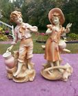 RARE ...VINTAGE  pair of Sitzendorf figurines (1887-1900) Mark