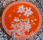 Vintage Snack Plate Porcelain Hand Painted Japan Raised Flowers Butterfly SIGNED