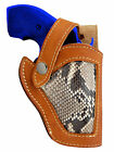New Barsony Tan Leather Python Snake Skin Gun Holster Rossi EAA Snub Nose 2