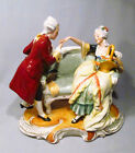 Co. Porcelain Colonial Man Courting Woman Figurine