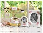 Pink Porcelain Phone Clock Photo Frame - Antique Styled Decor - Nice Gift Set