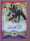 2012 Topps Chrome Pink Refractor Autograph Auto #202 Isaiah Pead RC 28 75 Rams