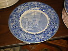 Wedgwood Historical Blue & White Transfer Plate-Old North Church, Boston MA