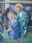 NATIVITY TRIPTYCH painting religious acrylic on board BABY JESUS