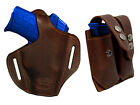 NEW Barsony Brown Leather Pancake Holster+Dbl Mag Pouch Kel Tec Comp 9mm 40
