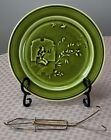 Antique French Majolica Aesthetic Japanesque Plate Choisy Le Roi c1870 Olive