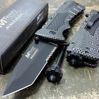 Spring Assisted Opening RESCUE Knives Carbon Fiber Fire Starter Camping Knife