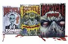 Lot of 3 Bicycle Playing Cards Zombified Everyday Zombies  Zombie Decks New