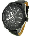 Guess Interchangeable Leather Strap Set Mens Watch U0079G2