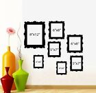 Family Tree Picture Frames Qty 7 frames Wall or Window Decal