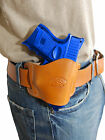 New Barsony Tan Leather Gun Quick Slide Holster Kel Tec Kimber Compact 9mm 40