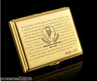 Gold Ultra-thin Gentleman Personality Pure Copper Carving Cigarette Case &$