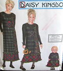 Daisy Kingdom Womens jumper dress pattern sz S M L XL daughter sz 7-14 doll 18
