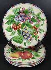 Oneida Sakura Sonoma Set of 4 Salad Plates Apples Pears Grapes