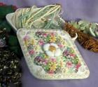 Lovely Vintage Tilso Hand Painted Jewelry/Trinket Box wth Colorful Daisies
