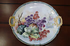 VTG. GDA France Porcelain Round Serving Platter Hand Painted 11 1/2