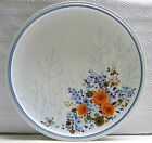 Mikasa Cordon Bleu Gay Paree Dinner Plate Blue Rust Orange Floral Vintage 1970's