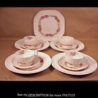 13pcs Spode Copeland Rose Briar Luncheon Plates Cups & Saucers