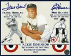 FRANK HOWARD & RON HANSEN SIGNED 8x10 PHOTO - JACKIE ROBINSON TRIBUTE - ROY's