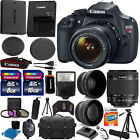 Canon EOS Rebel T5 1200D SLR Camera + 3 Lens 18 55 IS +24GB KIT