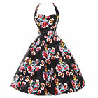 50s 60s Vintage Dress Housewife Tea Party Pinup Dress Cocktail S~XL