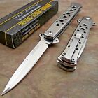 TAC FORCE Spring Assisted Open STAINLESS Stiletto Folding Tactical Pocket Knife