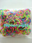 1200 Mixed Tide Dye Color Loom Rubber Bands  32 S Clips US Seller