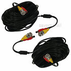 2 x 100 ft Plug-n-Play CCTV Surveillance Security System Dual Video Power Cables
