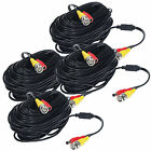 4 x 100 ft Plug-n-Play CCTV Surveillance Security System Dual Video Power Cables