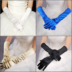 New Womens Evening Party Opera Bridal Wedding Satin Arm Hand Sleeve Long Gloves