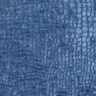 A0151S Blue Textured Alligator Shiny Woven Velvet Upholstery Fabric By The Yard